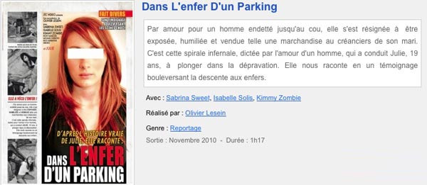 Dans l'Enfer d'un Parking