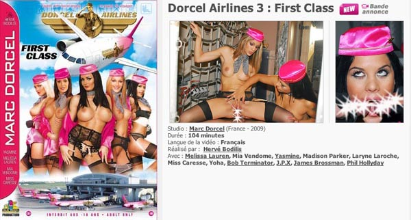 Dorcel Airlines 3 First Class
