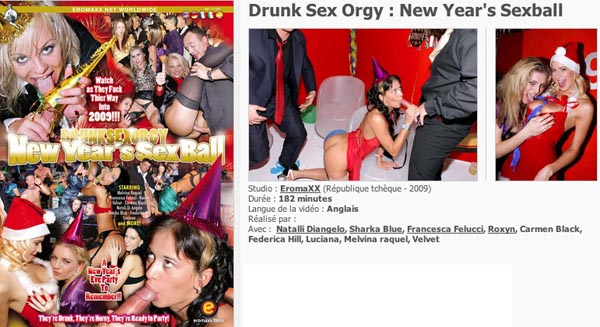 Drunk Sex Orgy New Year's Sexball