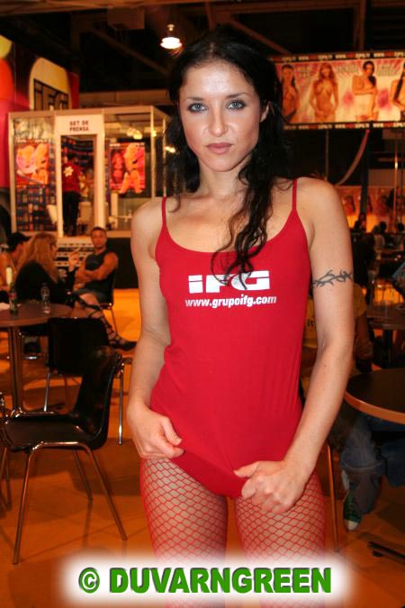 Tiffany Hopkins porn star Ficeb Barcelone 2006