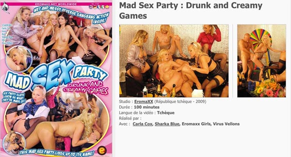 Mad Sex Party Drunk and Creamy Games VOD