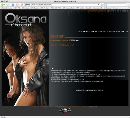 Oksana d'Harcourt le site officiel
