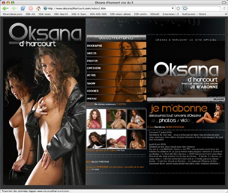 site officiel d'Oksana d'Harcourt