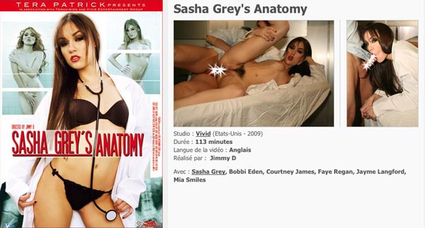 Sasha Grey 's Anatomy VOD