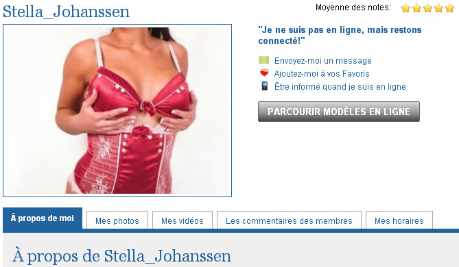 Stella Johanssen live show webcam